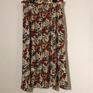 Skirts - Vintage floral button down skirt